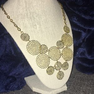 Gold statement necklace from Modcloth!